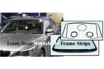 Front Rear Windshield Frame Strips
